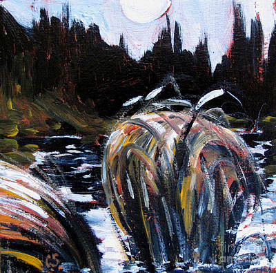 Moon Walk Painting - Oxbow Night by Charlie Spear