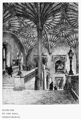 Staircase Painting - Oxford Christchurch, 1890 by Granger