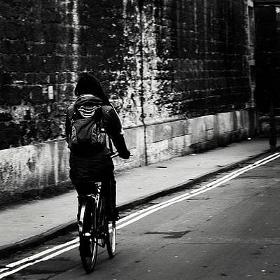 Cycling Wall Art - Photograph - #oxford #cycling #wall by Ozan Goren