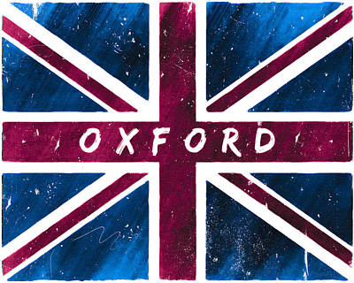 Digital Art - Oxford Distressed Union Jack Flag by Mark E Tisdale