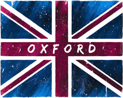 Digital Art - Oxford Distressed Union Jack Flag by Mark Tisdale