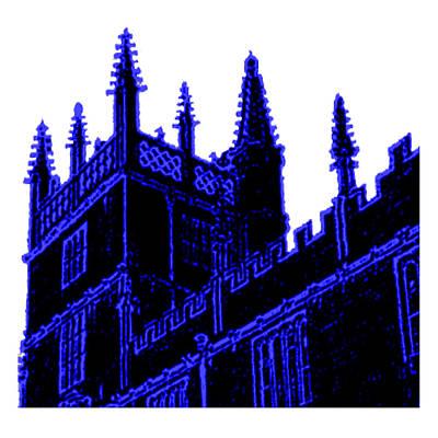 Digital Art - Oxford England 1986 Blue Spirals Art1 Jgibney The Museum Gifts by The MUSEUM Artist Series jGibney
