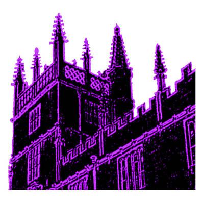 Digital Art - Oxford England 1986 Purple Spirals Art1 Jgibney The Museum Gifts by The MUSEUM Artist Series jGibney