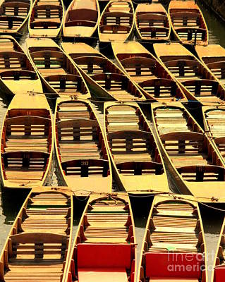Oxford Punts Art Print by Linsey Williams