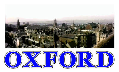 Digital Art - Oxford Snapshot Panorama Rooftops 2 Jgibney The Museum Zazzle Gifts by The MUSEUM Artist Series jGibney