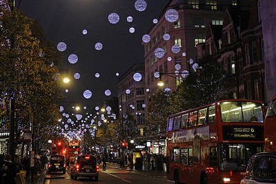 Photograph - Oxford Street Christmas Lights by Tony Murtagh