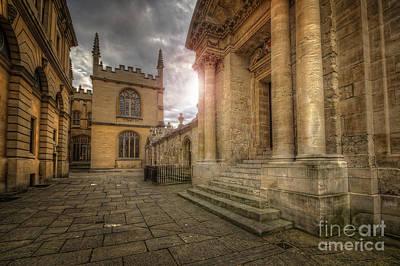 Photograph - Oxford University - History-sheldonian-divinity by Yhun Suarez