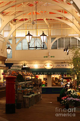 Oxford's Covered Market Art Print by Terri Waters