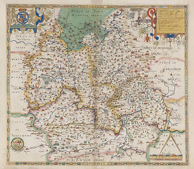 Cartography Photograph - Oxfordshire And Berkshire by British Library