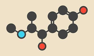 Oxilofrine Stimulant Drug Molecule Art Print by Molekuul
