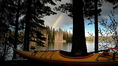 Oyama Lake - Kayaking Art Print