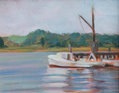Painting - Oyster Boat On The Chesapeake by Susan Bradbury
