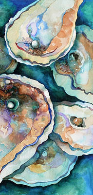 Oysters Painting - Oyster by Carol Shamrock
