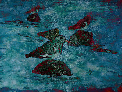 Mixed Media - Oyster Catchers 2 by Dorothy Berry-Lound