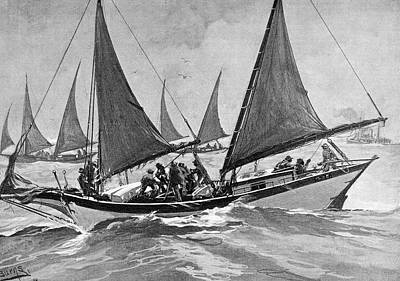 Poacher Drawing - Oyster Pirates, 1892 by Granger