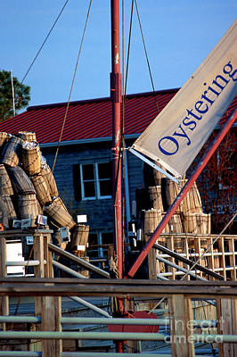 Oystering History At The Maritime Museum In Saint Michaels Maryland Art Print