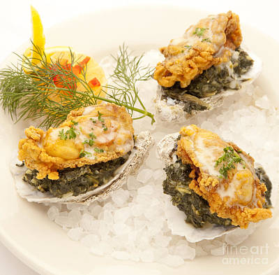 Photograph - Oysters Rockefeller by New  Orleans Food
