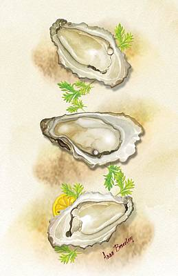 Painting - Oysters Three by Anne Beverley-Stamps