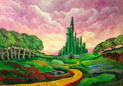Painting - Oz Revisited by Randol Burns