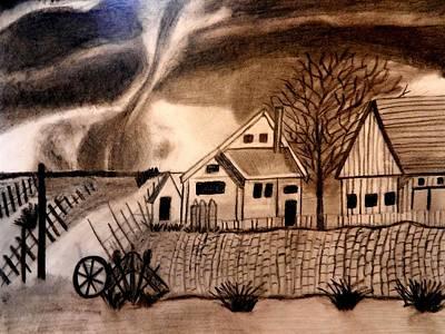 Oz  Tornado In Kansas Art Print by Jo-Ann Hayden