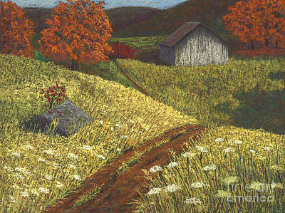 Painting - Ozark Barn Autumn by Garry McMichael