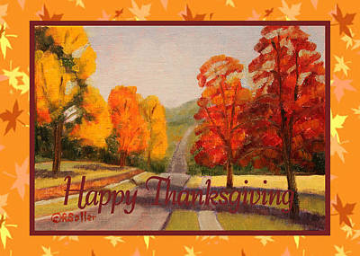 Painting - Red Maple Trees Card by Ruth Soller
