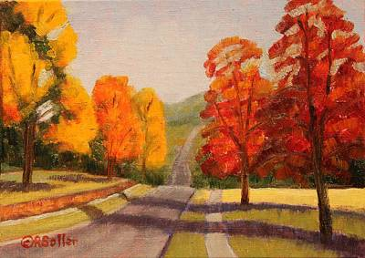 Painting - Ozarks October by Ruth Soller