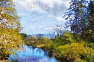 Digital Art - Ozette Lake by Kaylee Mason
