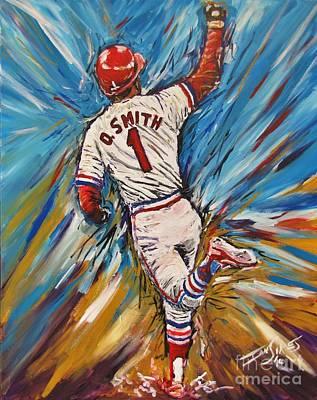 Ozzie Painting - Ozzie Smith by Ian Sikes