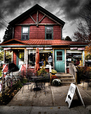 Photograph - Ozzie's Coffee Bar - Old Forge Ny by David Patterson