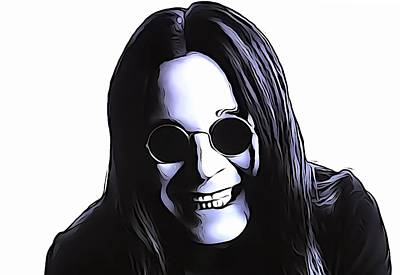 Music Mixed Media - Ozzy by Dan Sproul