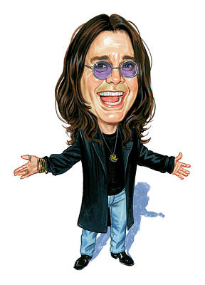 Musicians Paintings - Ozzy Osbourne by Art