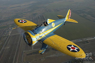P-26 Pea Shooter Flying Over Chino Art Print
