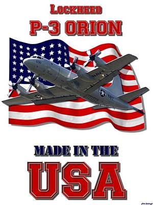 Made In The Usa Digital Art - P-3 Orion Made In The Usa by Mil Merchant