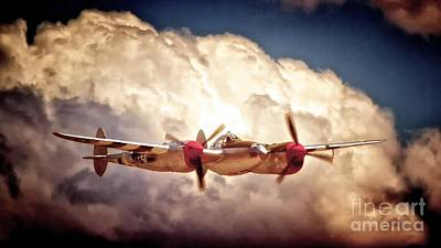 Lightning D Photograph - P-38 'dancin' With The Lightning' by Gus McCrea