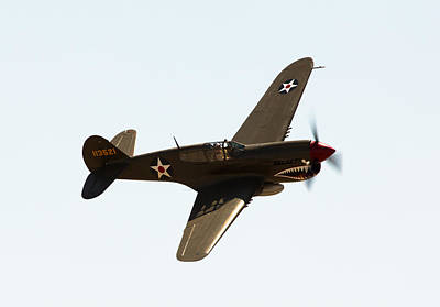 Planes Of Fame Photograph - P-40 by John Daly