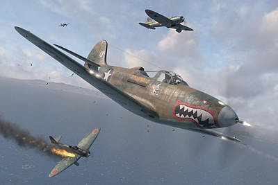 Fighter Aircraft Digital Art - P-400 Hells Bells by Robert Perry
