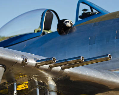 P 41 Fighter Art Print by Puget  Exposure