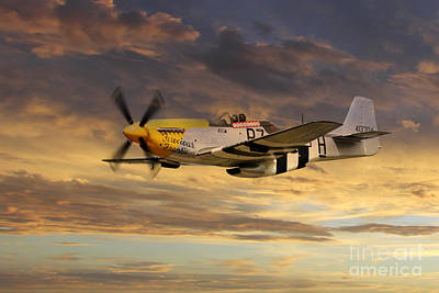 North American P51 Mustang Digital Art - P-51 Ferocious Frankie by J Biggadike