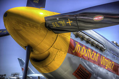 P51 Mustang Photograph - P-51 Impatient Virgin by Spencer McDonald