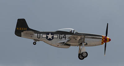 John Daly Photograph - P-51 Landing Configuration by John Daly