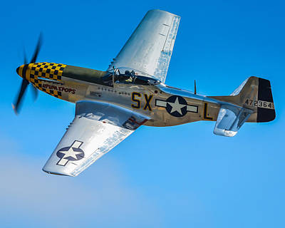 P51 Mustang Photograph - P-51 Mustang Break Out Roll by Puget  Exposure