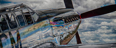 Cockpit Photograph - P-51 Mustang Fighter by Mike Burgquist