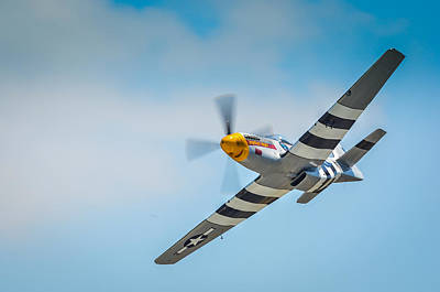 P-51 Mustang Low Pass Art Print by Puget  Exposure