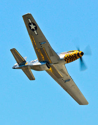 North American P51 Mustang Photograph - P-51 Mustang Wing Over by Puget  Exposure