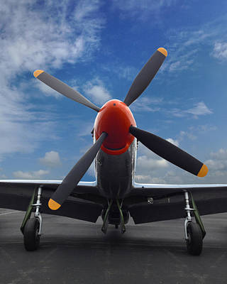 P-51 Ready For Flight Art Print