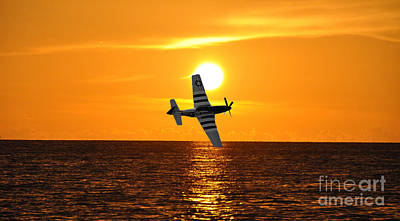 Photograph - P-51 Sunset by John Black