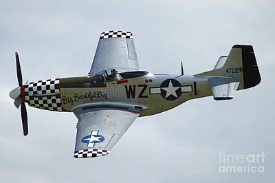 P-51d Mustang In World War II United Art Print