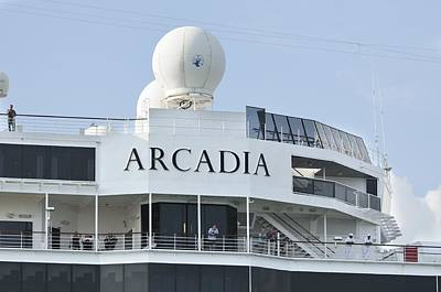 Photograph - P And O Arcadia Top Decks by Bradford Martin