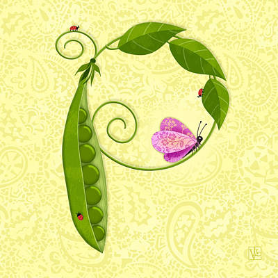 P Is For Peas In A Pod Art Print